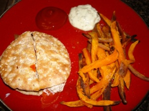 Portobellow Mushroom Burgers with Sweet Potato Fries