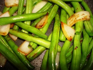 Green Beans with Carmelized Shallots